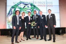 the winners of the schweighofer price 2013 on stage
